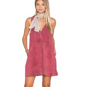 Free People pink suede dress